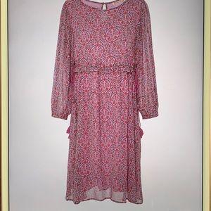 Bandanna Rhada dress lilac floral medallion NWT